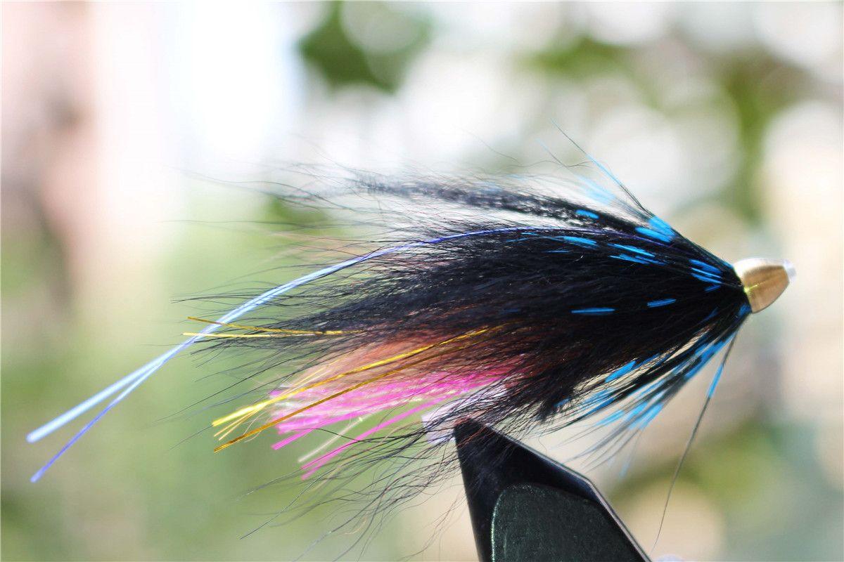 Tigofly 40 шт. / Лот Tone Head Tube Fly 5 разных цветов Популярные Streamer Fly Лосось Форель Steelhead Fly Fishing Flys Приманки Набор