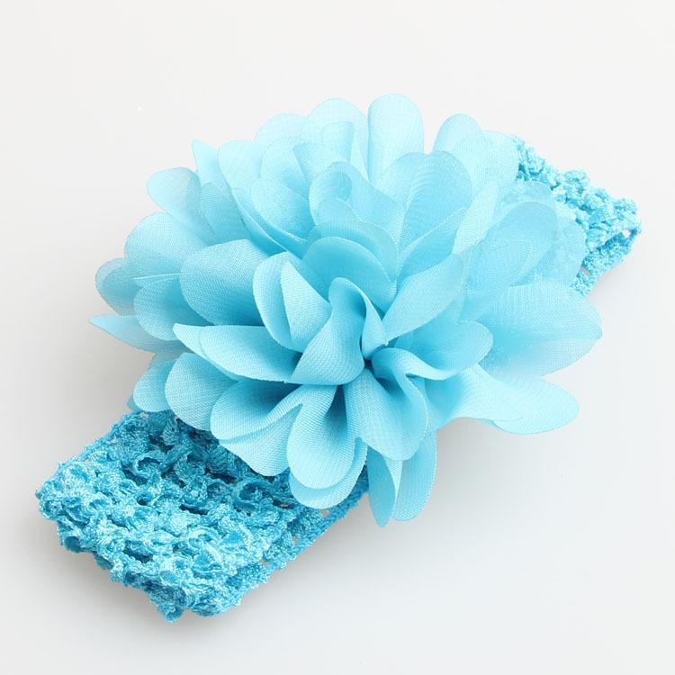 2017 Bébé Bandeaux Solide Bandeau Belle Arc Bandeau Multi Couleur Bébé En Mousseline De Soie Fleur Élastique Crochet Bandeaux Bébé Cheveux Accessoires