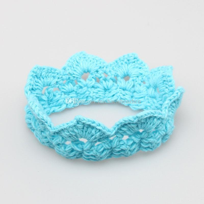 Bebé recién nacido niño Crochet Knit Prince Crown Headband Hats 2015 nuevos niños Plush imperial crown B001