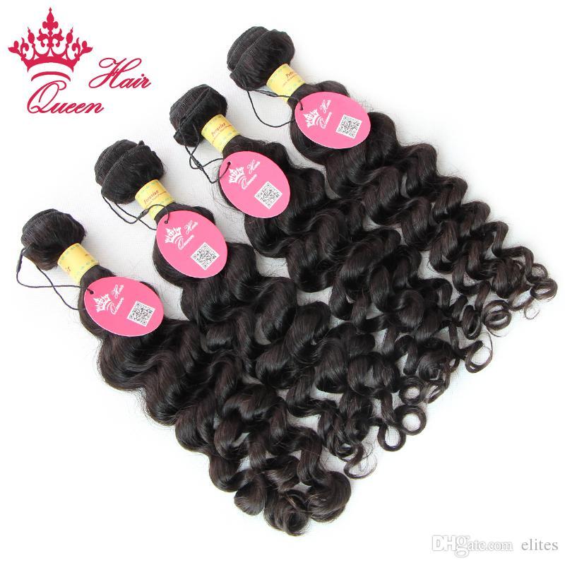 Queen Hair Más cabello ondulado de la Virgen Peruana sin procesar, exfoliante y enredo gratis, envío gratuito por DHL
