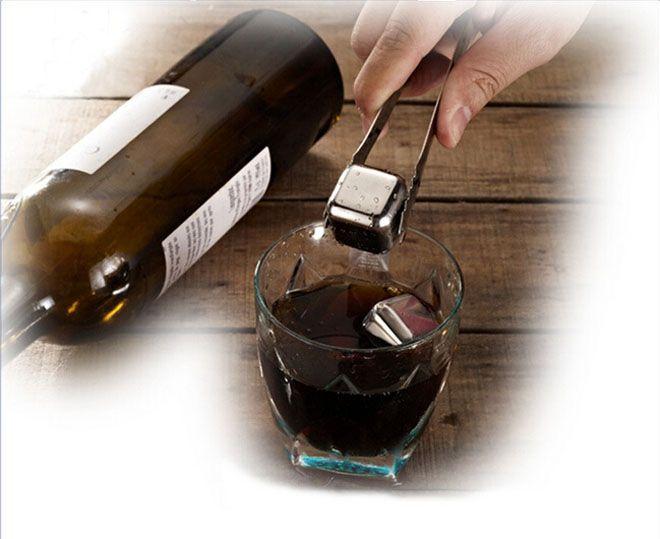 Вино кубики льда, из нержавеющей стали многоразовые виски камни, виски Чиллер, виски охлаждающие камни, напитки кулер кубики с футляром бесплатно DHL