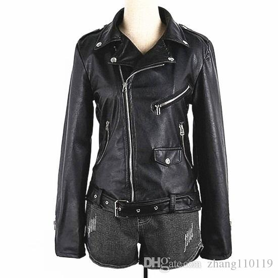Women Moto Jacket 2016 New Design Classic Faux Leather Biker ...