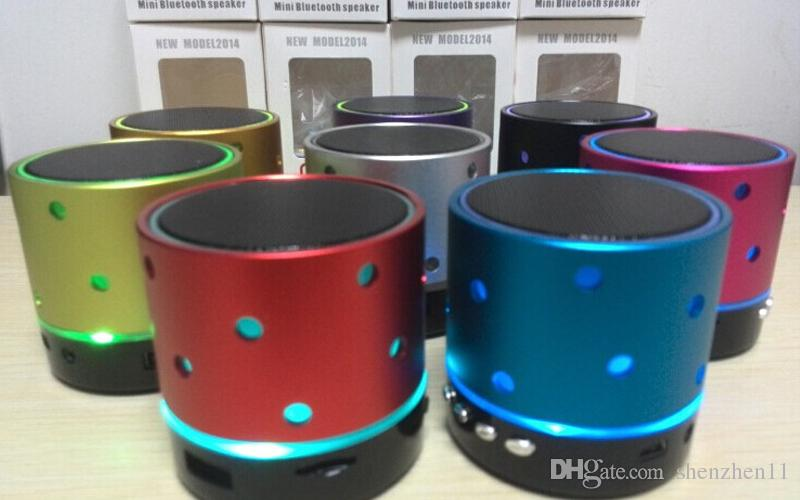 S61U Speakers Bluetooth LED Lights U Disk TF Slot Built-in MIC Super Bass Music Players For Outdoor Sports DHL Free MIS110