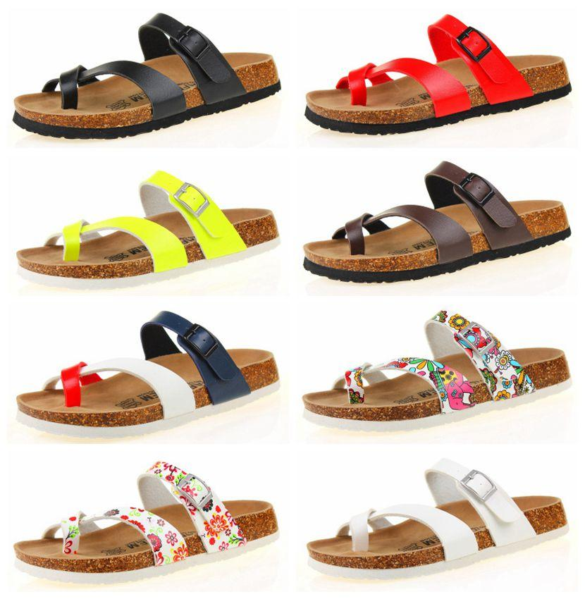 9c9016237c11 Wholesale PU Eather Flat Sandals Fashion Cork Slippers For Men Women Casual  Beach Slippers Size 35 43 Kids Boots Men Boots From Zhxhwwf98