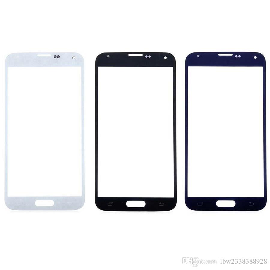 Front Outer LCD Touch Screen Lens Glass For Samsung Galaxy S5 G900f i9600 Parts Replacement