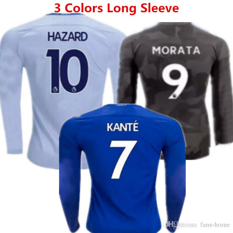 462d8d195a5 Soccer Jersey Eden Hazard Long Sleeve Football Shirts 17 18 Pedro ...