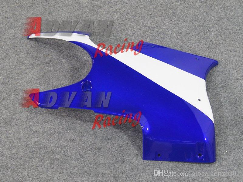 Blue White Injection moldura personalizada pintado carenado GSX750 / 600F Katana 05-06 9