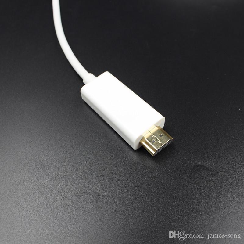 1.8 м/6 футов Thunderbolt мини-дисплей порт мужской мини DP к HDMI мужской конвертер кабель для Apple Macbook Mac Pro