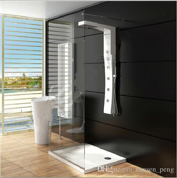 새로운 현대 CUPC 증명서 고체 표면 샤워 패널 벽 마운트 샤워 꼭지 열 코리안 패널 RS0040