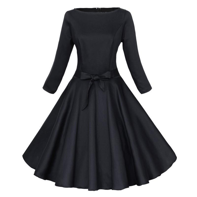 50s Vintage Long Sleeve Dresses New 2016 Spring Autumn Summer ...