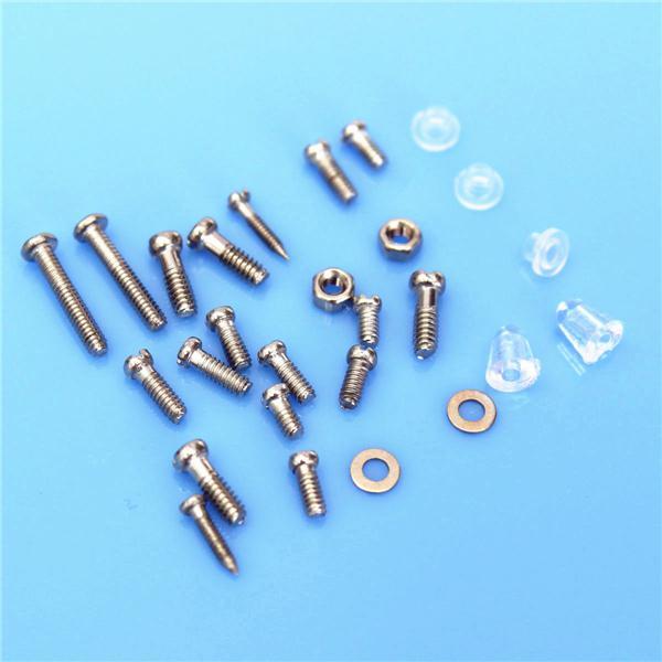 Kit de reparación de la tuerca de los tornillos de Sunglass de los vidrios de con una caja plástica