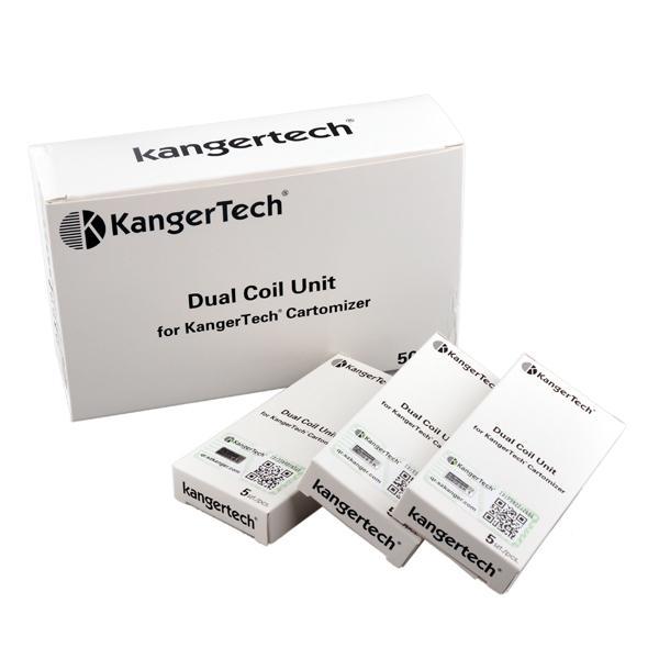Originale Kanger aggiornato Dual Coils 0.8ohm 1.0ohm 1.2ohm 1.5ohm 1.8ohm Sostituzione testa a bobina Fit Kangertech Sub ohm Serbatoi