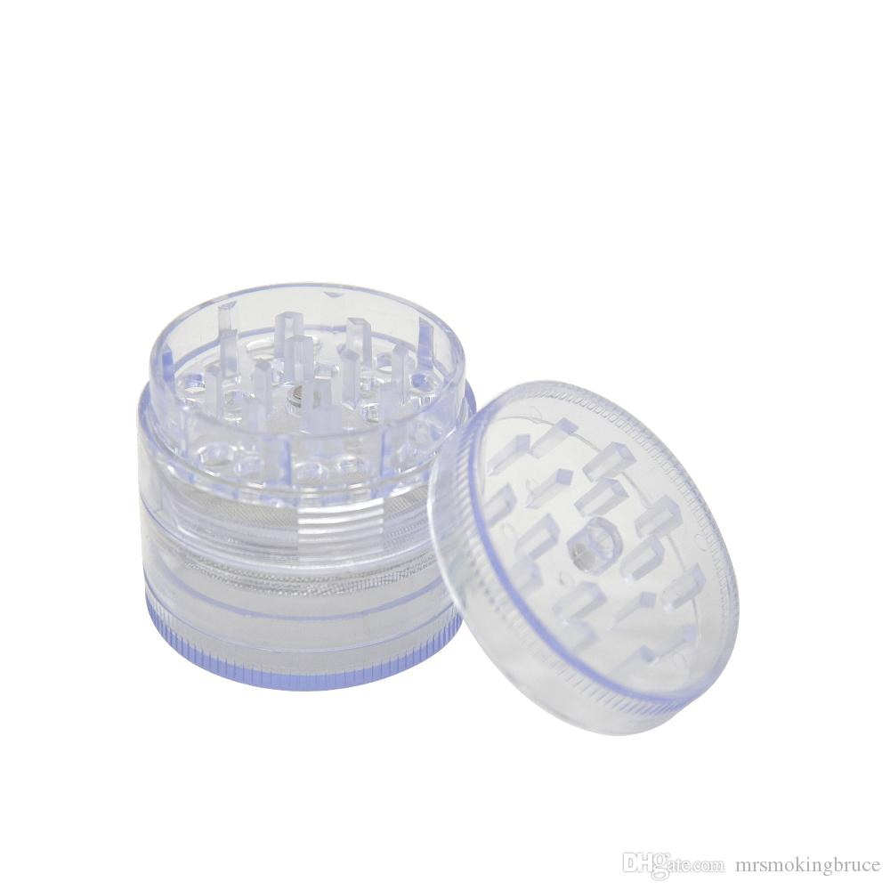 Dia.50mm plastique moulin de tabac broyeur broyeur spice concasseur manuel accessoires de fumer couleur aléatoire