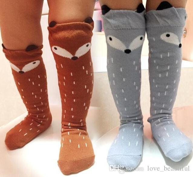 cc5bd72eb448c Acheter Mélange De Couleurs Bébé Genou Haut Chaussettes De Bébé Animal  Jambières Fille Legging Fille Chaussettes Genouillères Pour Bébé Coton  Enfants ...