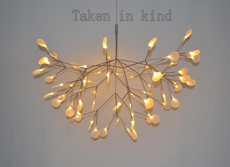 98 Cm Heracleum Leaves Led Pendant Lamp Tree Branch Chandelier Light Twigs  Suspension Lighting Contemporary Pendant Light Dining Room Pendant Lighting  From ...