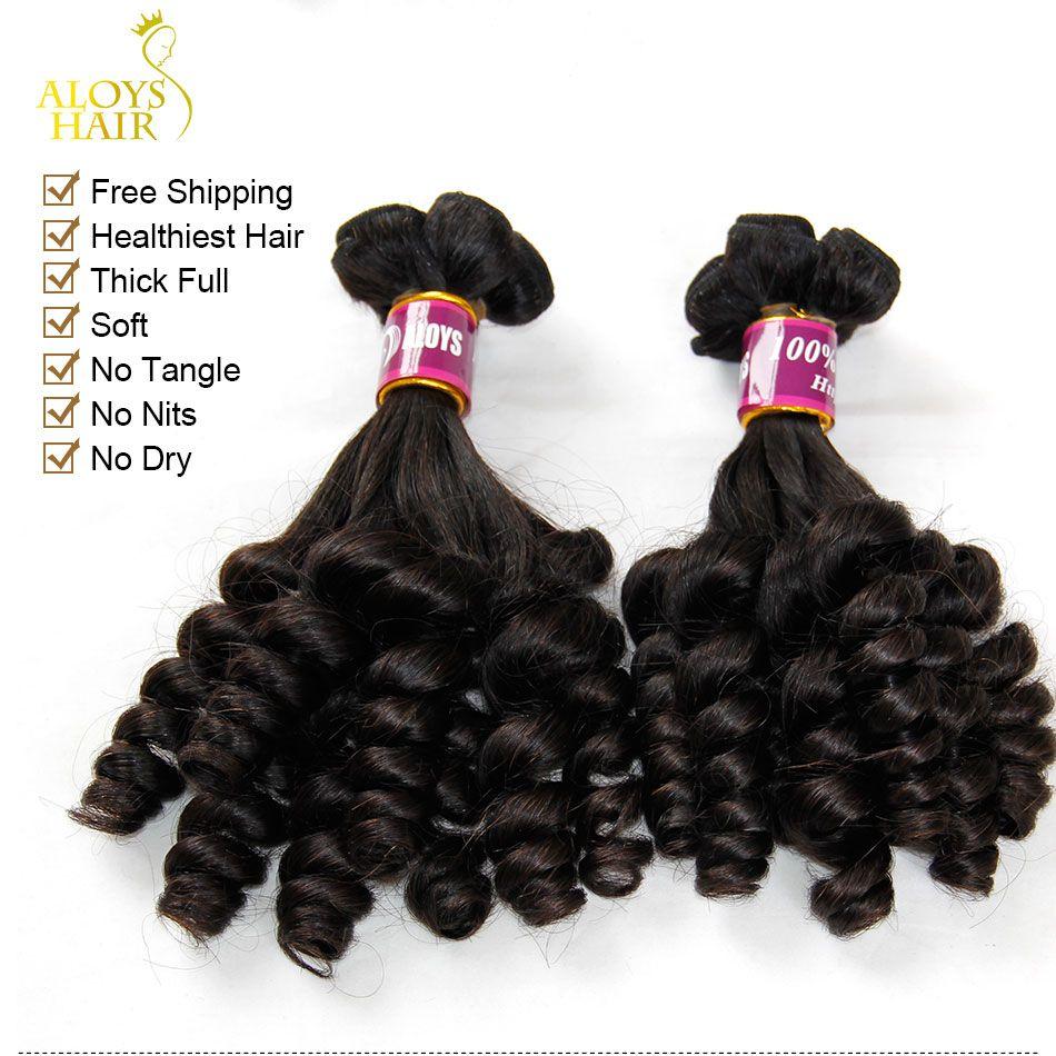Grade 8A Aunty Funmi Hair Unprocessed Virgin Indian Human Hair Weave Bundles Bouncy Spring Egg Curls Hair Extensions For UK/Nigeria