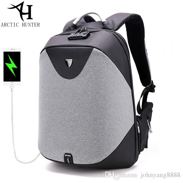 ARCTIC HUNTER Anti-theft Zipper Password Lock Backpacks Waterproof Bag Men  Business Travel 15.6 Inch Laptop Backpack Female Laptop Backpack Online  with ... 131fd7262a