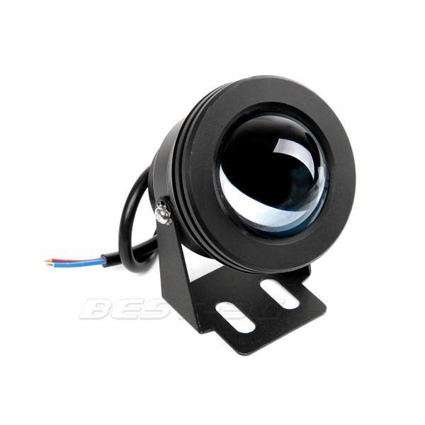 IP65 10W RGB Proiettore a luce subacquea LED Faretto a luce fissa piscina Piscina Proiettori esterni impermeabili che accendono l'obiettivo convesso rotondo 12V DC