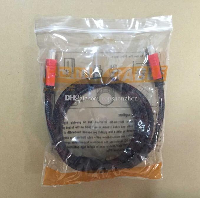 Meilleur Qualité Plaqué Or Câble HDMI vers HDMI Haute Vitesse 1.4V 3D HDMI Câble 1.5M 5FT Câble Vidéo Pour 1080P HDTV PS3 Xbox