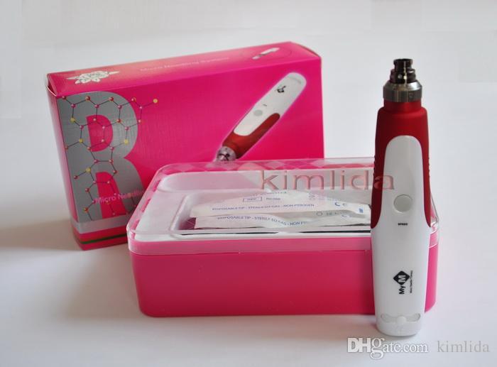 sello de derma, nueva dermis MYM, rodillo de derma, NUEVO Electric Derma Pen Stamp Auto Anti envejecimiento Terapia de piel Micro Needle Wand rodillo de belleza
