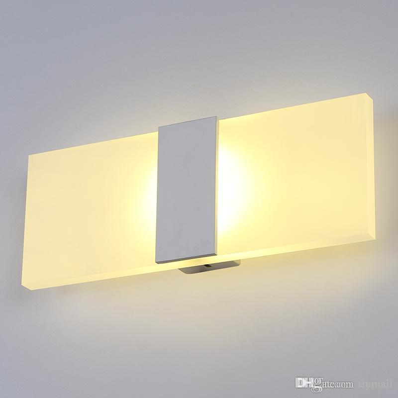 Led Wall Light Living Sitting Room Foyer Bedroom Bathroom Modern Sconce Round Square Acrylic Lamp Mirror By Cnmall