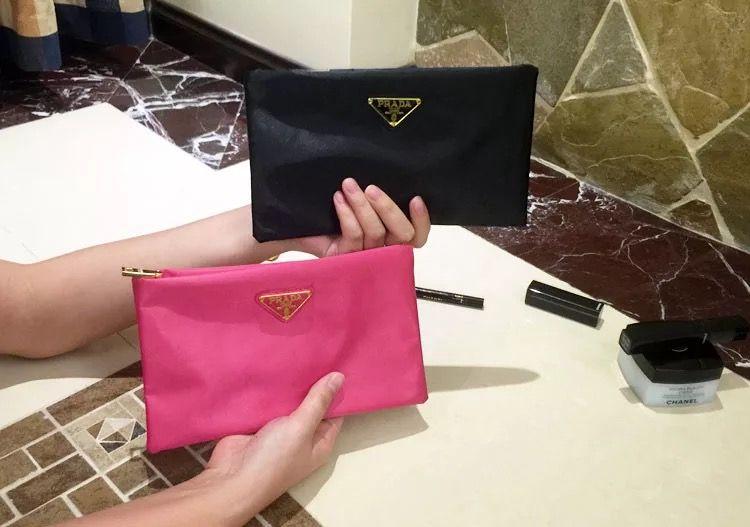 plain waterproof cosmetic bag female big transparent wash gargle bag lady fashion hand bag popular wallet