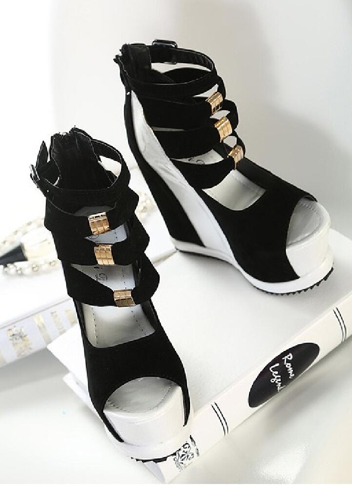 f484dd31accbb2 Platform Gladiator Sandals Summer Girls Shoes Woman New Brand Designer Knee  Gladiator High Heels Sexy Women Pumps Size 34 39 Wedge Sneakers Sandal From  ...