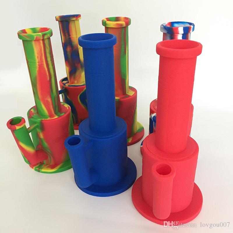 Silikon nargile nargile su boruları silikon boru gövdesi filtre cam kase uygun bükülen cam künt