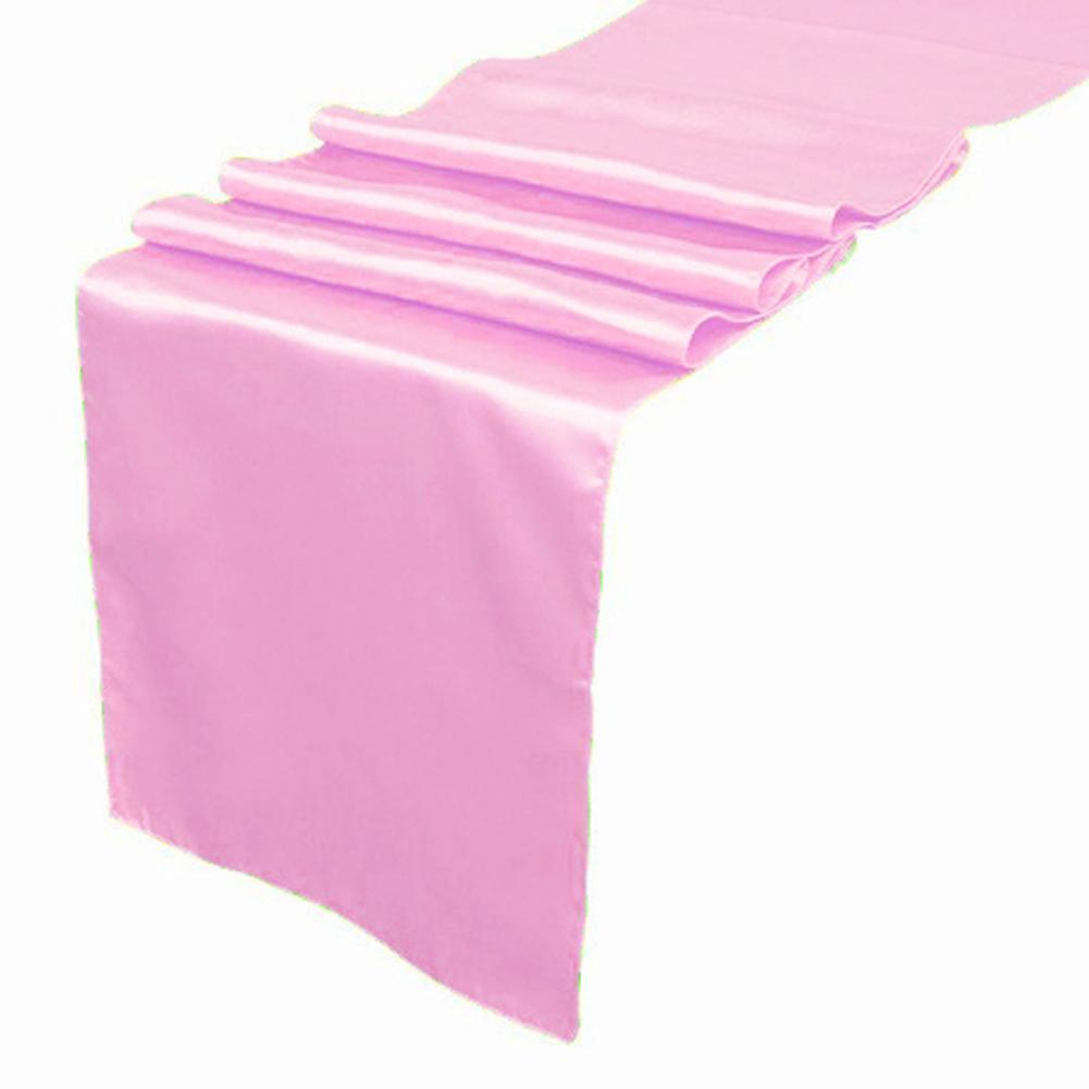 Light Pink Satin Table Runner Wedding Cloth Runners Silk Organza Holiday  Favor Party Decorations Table Cloth Runners Table Linen From Fq185016472,  ...