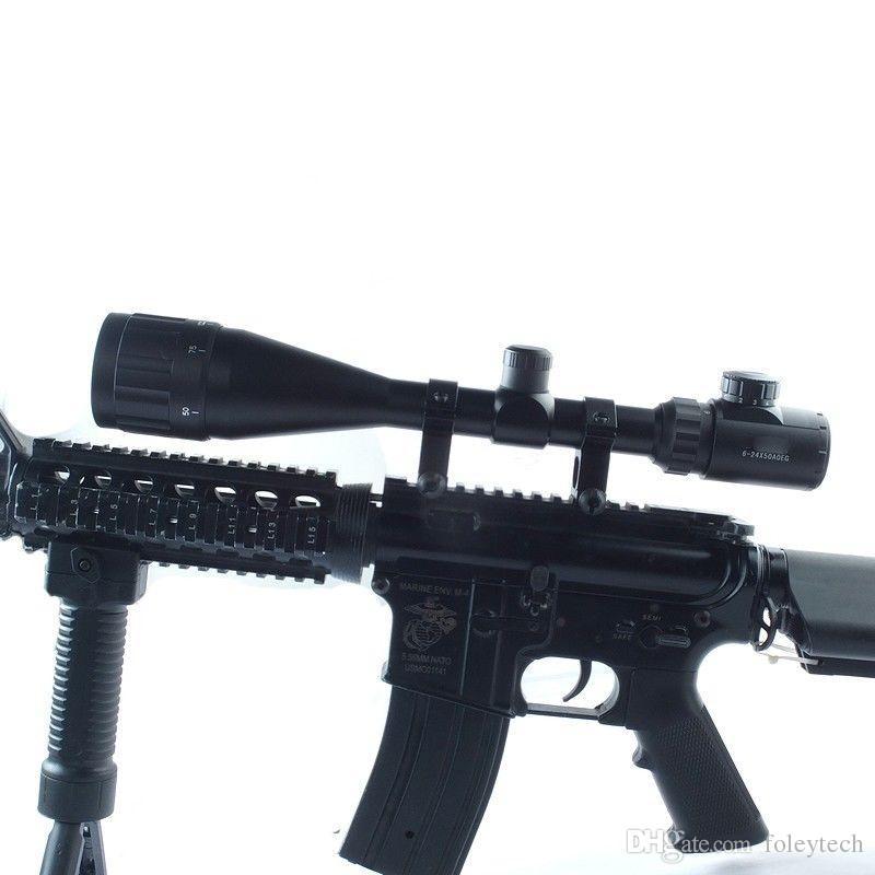 6-24x50AOEG Red Green Mil-Dot Illuminated Optics Hunting Rifle Scope W/Rings