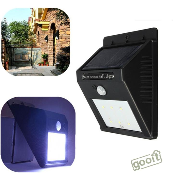 Review Best Solar Power 6 Led Pir Motion Sensor Light Outdoor Garden Wall Lamp For Waterproof Garden Lawn Lamps Landscape Yard Lights Under $15 08 New - Best of best solar powered motion security light Unique