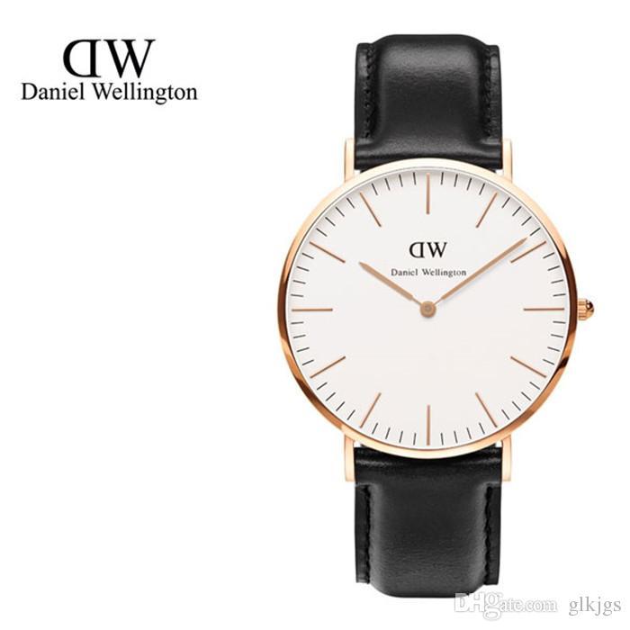 Nuovi uomini di lusso da donna DW Daniel Wellington orologi 40mm Orologi da uomo 36 Orologi da donna Famoso orologio da polso al quarzo Donna Relogio Montre Femme