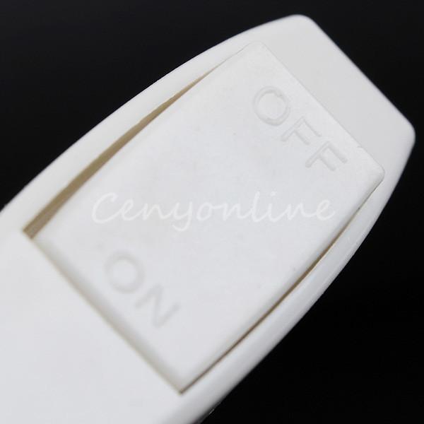 5 pçs / lote Novo Branco Inline ON / OFF Lâmpada de Mesa Desk Light Barco Barco Cabo Rocker Switch controle 2A 240 V Adequado Para 2 Core cabo pedido $ 18no tra