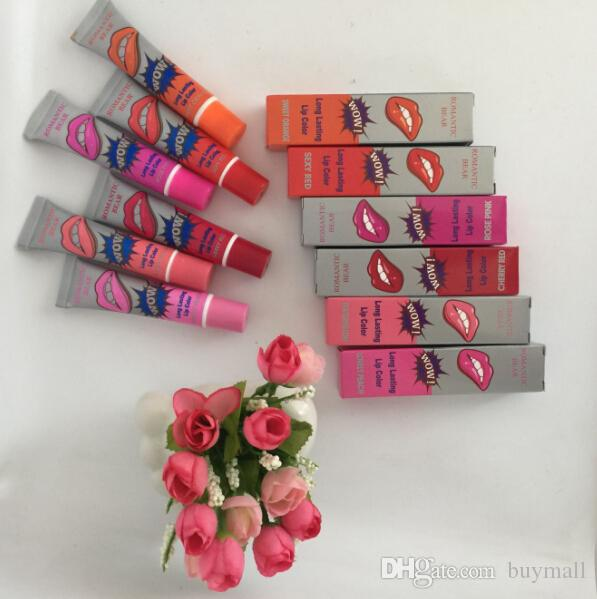 Romantic Bear WOW lipgloss with individual box TATTOO Magic Color Peel Mask Tint lipsticks DHL free