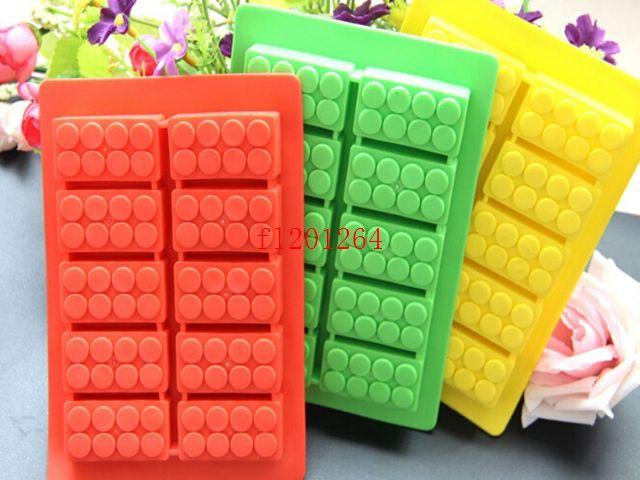 New Building blocks block brick Ice Chocolate Mold Silicone Ice Cube Tray Size 16x10.5cm,