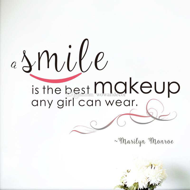 Best Smile In The World Quotes: Large A Smile Is The Best Makeup Marilyn Monroe Wall Decal