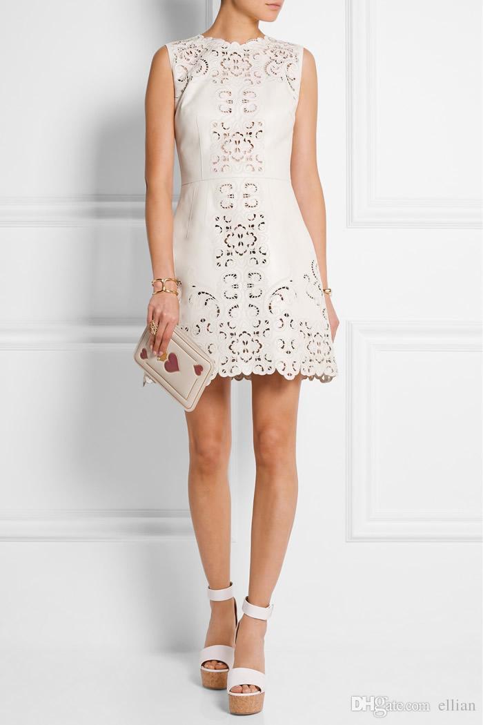 Luxury Women Cut Out Sheath Dress Fashion Embroidery Dresses 117099