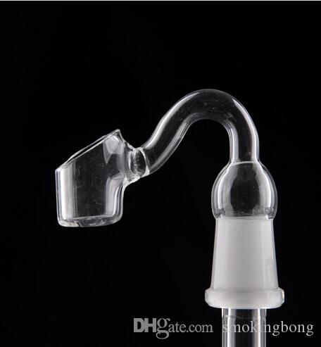 14mm 18mm female male Glass Banger nail bowl curved pipe nail 45 degrees for water pipe Glass bongs hookahs Smoking Accessories