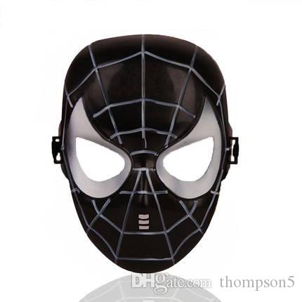Halloween Hoilday Cosplay Mask black color Spider Man Mask With Led light Children Festival Luminous mask for Masquerade Party