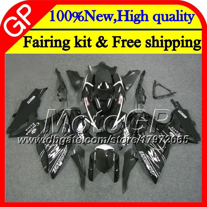 Corpo para SUZUKI GSXR750 08 09 10 K8 GSXR 600 08 10 corona preta 26GP8 GSX-R750 GSX-R600 GSXR 750 GSXR600 2008 2009 2010 Motocicleta Carenagem