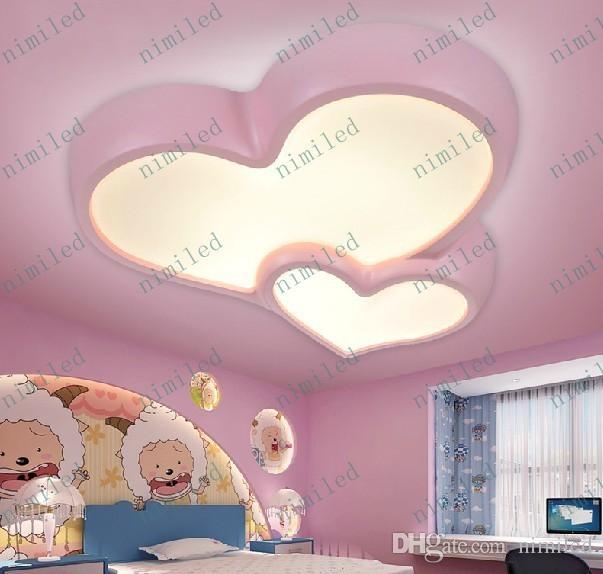 Acheter Nimi579 Romantique En Forme Damour Dessin Animé Garçons Et Filles Led Plafonniers Chambre Princesse Salle De Mariage Salon Chambre Des Lampes