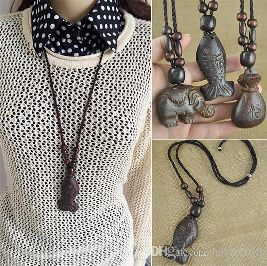 jungle l wooden big lion wood item full ea vintage beads necklace vneckwoodlionpair carved statement
