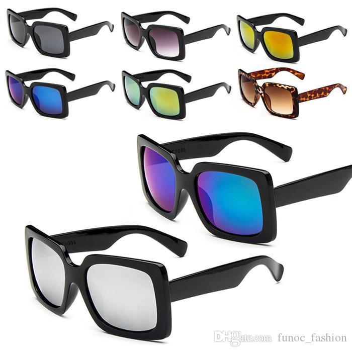 Compre Novedades Mujer Señora Cuadrado Encuadre Completo Sun Gafas ...