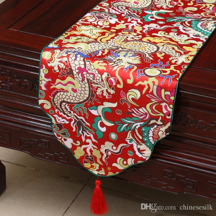 Extra Long Dragon Table Runners Chinese Style Dining Table Pads