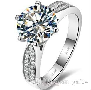 3 Ct Synthetic Diamond Rings Sterling Silver Wedding Bands for Women