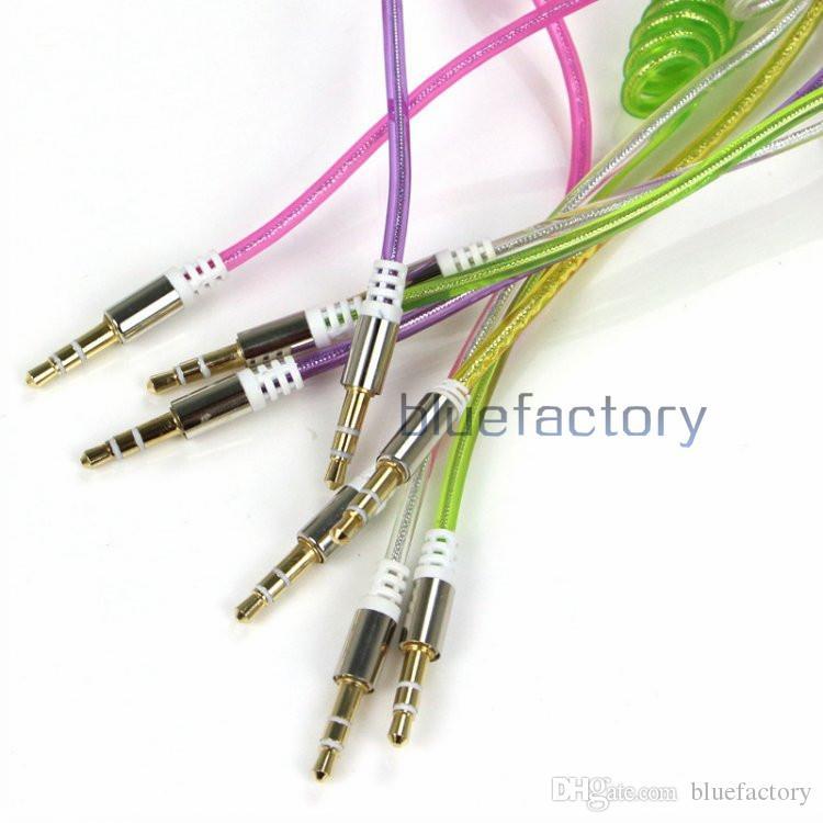 3,5 мм AUX кабель между мужчинами Аудио Автомобильный удлинитель Aux Выдвижной пружинный аудио кабель для телефона MP3 MP4 TV Samsung Гарнитура Компьютер