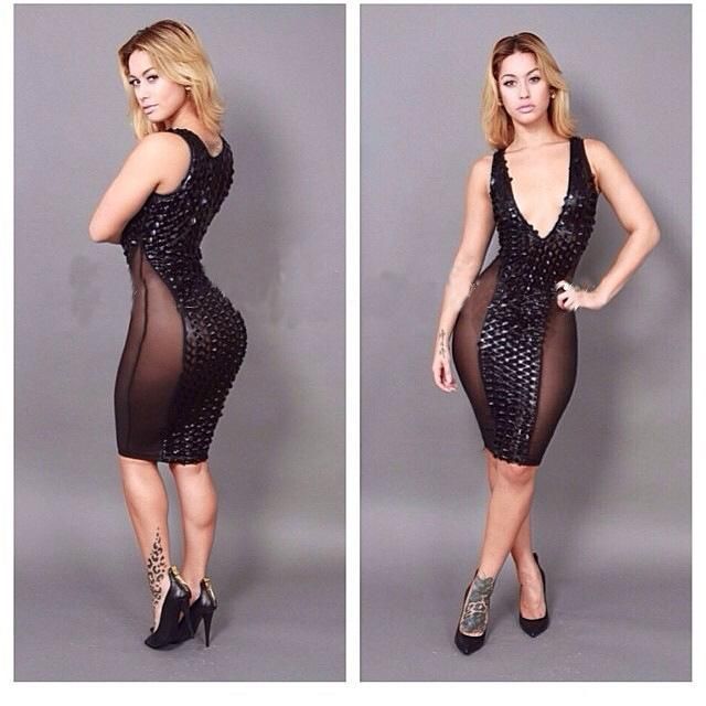 The Ladys Wear Euro American And Sexy Ammonia Lun In Night Club Imitates The Leather -6939