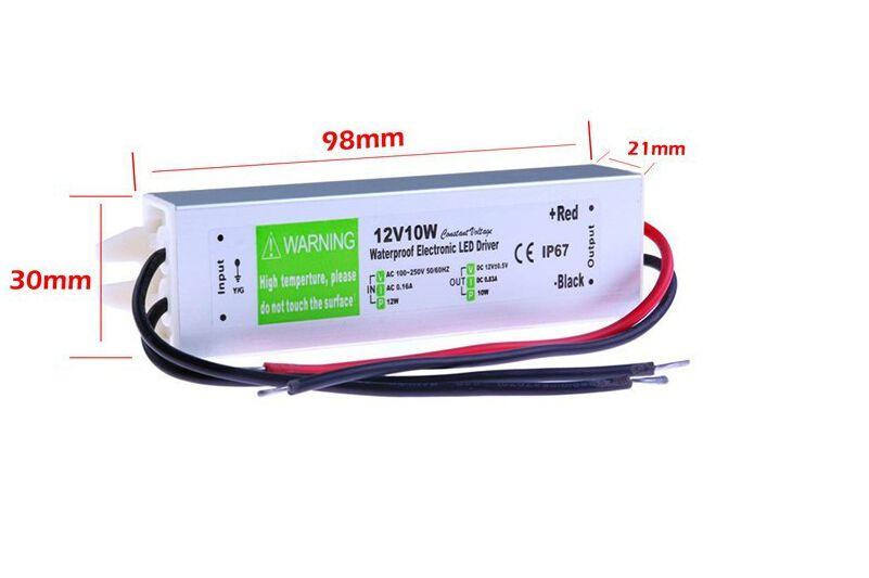 IP67 Водонепроницаемый Электронный СВЕТОДИОДНЫЙ Драйвер 12 В 10 Вт Наружного Использования Трансформатор 110 В 220 В Для 12 В Питания Для Подводного Света