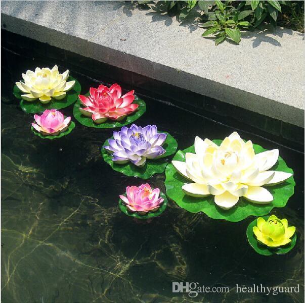 2019 17cm Lotus Flower Floating Pool Decoration Simulation Water