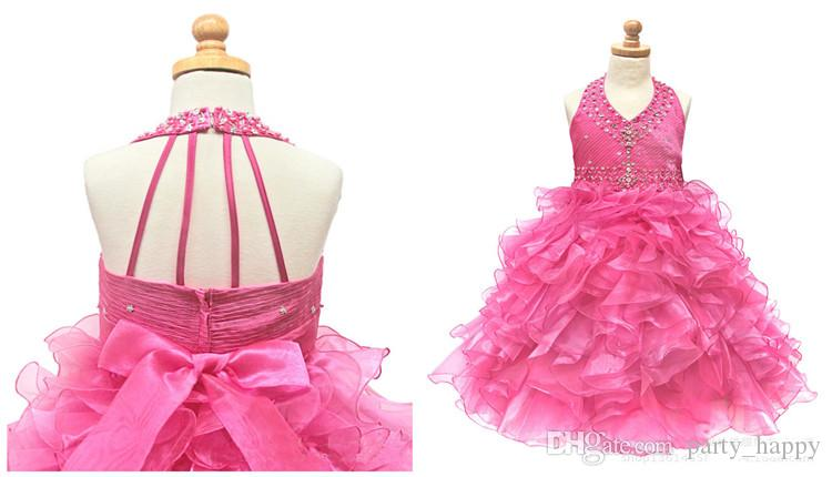 Flower Girl Dresses Children's Bitter Fleabane Bitter Fleabane Skirt Princess Dress Custom Fold Skirt Bowknot Candy Flower Dress